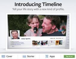A timeline for facebook